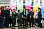 (L to R) Craig Reedie, Tatsuhiro Yonemitsu, Hitomi Obara, Kaori Icho, Saori Yoshida, Tomiaki Fukuda, Yuki Ota, MARCH 6, 2013 : London Olympics Silver medalist Yuki Ota speeachs for International Olympic Committee Vice President Craig Reedie and IOC Evaluation Commission menber at Tokyo Bigsight, Tokyo, Japan. The IOC evaluation commission, led by Reedie, began a four-day inspection of Tokyo's bid to host the 2020 Olympics. (Photo by Yusuke NakanishiAFLO SPORT)