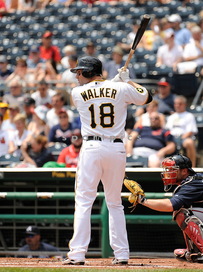 NEIL WALKER, of the Pittsburgh Pirates in action during the Pirates game against the Atlanta Braves, on May 25, 2011 at PNC Park in Pittsburgh, PA. The Braves beat the Pirates 4-2.