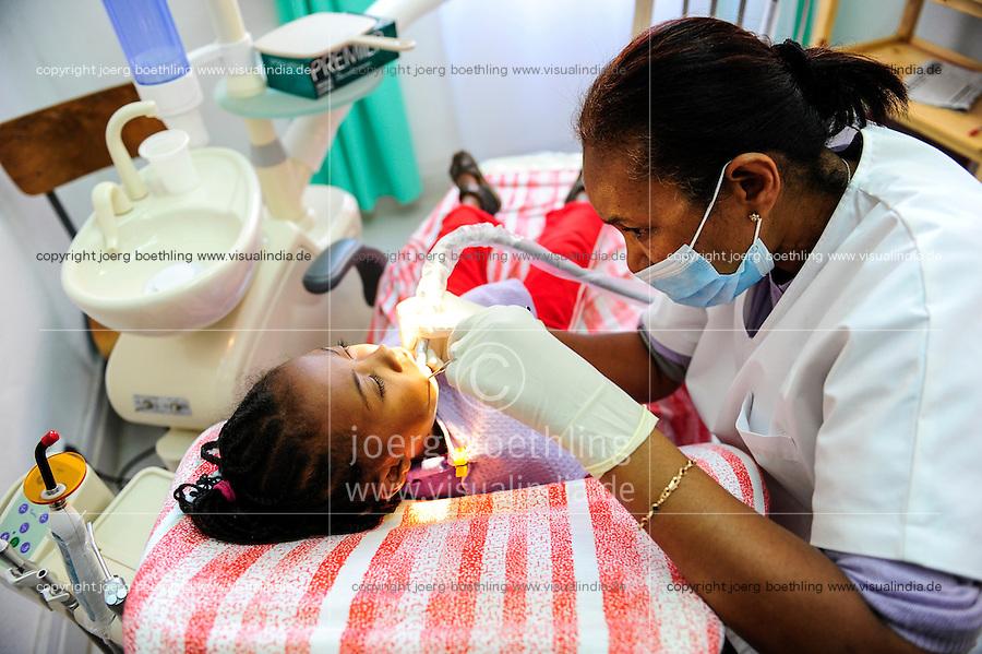 MADAGASCAR Antananarivo , dentist clinic, child during check-up