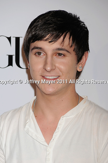 HOLLYWOOD, CA - SEPTEMBER 23: Mitchel Musso  arrives at the 9th Annual Teen Vogue Young Hollywood Party at Paramount Studios on September 23, 2011 in Hollywood, California.