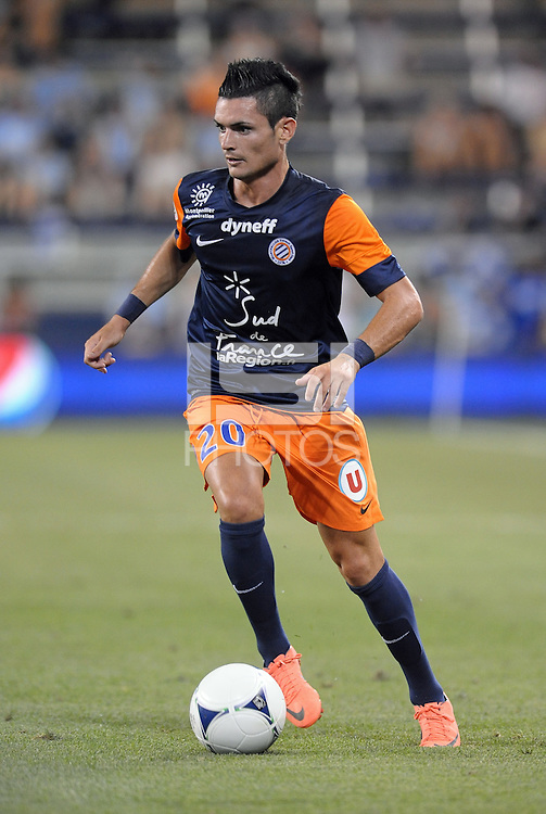 Remy Cabella (20) midfield Montpellier in action..Sporting Kansas City were defeated 3-0 by Montpellier HSC in an international friendly at LIVESTRONG Sporting Park, Kansas City, KS..