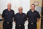 Oliver Flanagan with Station Officer Peter Leahy and Fire Fighter Craig Gibson on retiring from the Fire Service in his 40th year in Service...(Photo credit should read Jenny Matthews www.newsfile.ie)....This Picture has been sent you under the conditions enclosed by:.Newsfile Ltd..The Studio,.Millmount Abbey,.Drogheda,.Co Meath..Ireland..Tel: +353(0)41-9871240.Fax: +353(0)41-9871260.GSM: +353(0)86-2500958.email: pictures@newsfile.ie.www.newsfile.ie.