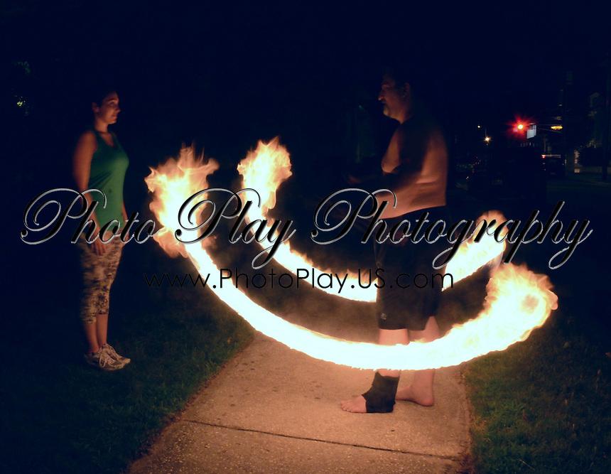 Q Spinning Fire Poi - Atlantic City, NJ
