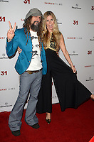 HOLLYWOOD, CA - OCTOBER 20: Rob Zombie and Sheri Moon Zombie at the special screening of 31, in Hollywood, California, on October 20, 2016. Credit: David Edwards/MediaPunch