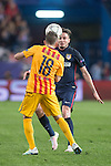 Atletico de Madrid's Saul Ñiguez and FC Barcelona Jordi Alba during Champions League 2015/2016 Quarter-Finals 2nd leg match. April 13, 2016. (ALTERPHOTOS/BorjaB.Hojas)
