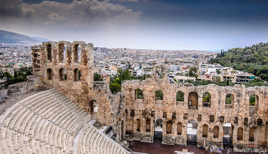 Fine Art Landscape Photograph of the Acropolis stadium in Athens Greece.
