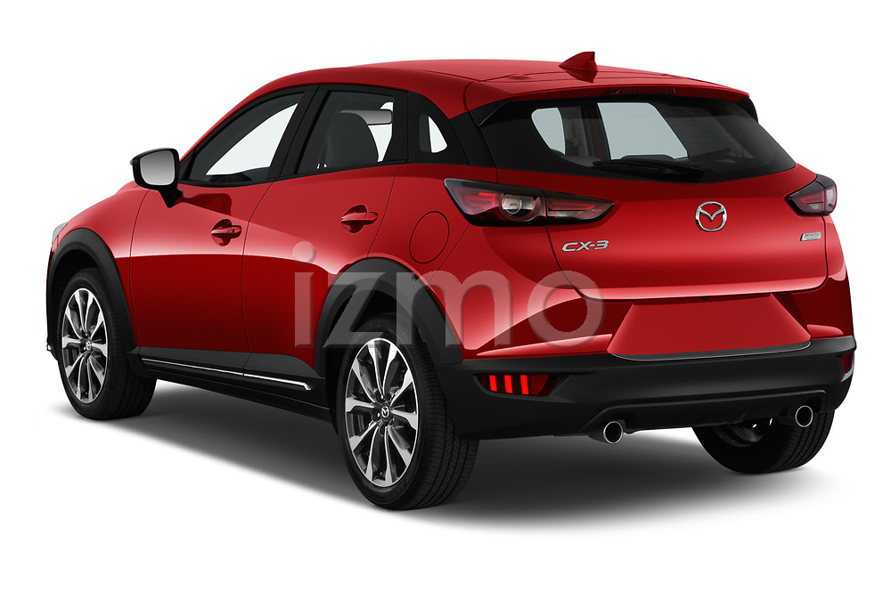 Car pictures of rear three quarter view of 2019 Mazda CX-3 Grand-Touring 5 Door SUV Angular Rear