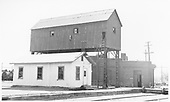 A view of the roundhouse office and the unwheeling hoist adjacent to the D&amp;RGW Alamosa roundhouse.<br /> D&amp;RGW  Alamosa, CO