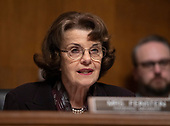 United States Senator Dianne Feinstein (Democrat of California) makes an opening statement as the US Senate Committee on the Judiciary meets to vote on the nomination of Judge Brett Kavanaugh to be Associate Justice of the US Supreme Court to replace the retiring Justice Anthony Kennedy on Capitol Hill in Washington, DC on Friday, September 28, 2018.  If the committee votes in favor of Judge Kavanaugh then it goes to the full US Senate for a final vote.<br /> Credit: Ron Sachs / CNP<br /> (RESTRICTION: NO New York or New Jersey Newspapers or newspapers within a 75 mile radius of New York City)