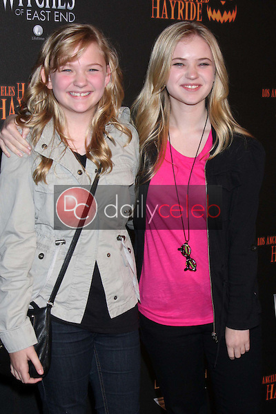 Kayla McCormick, Sierra McCormick<br /> at the 8th Annual LA Haunted Hayride Premiere Night, Griffith Park, Los Angeles, CA 10-10-13<br /> David Edwards/DailyCeleb.Com 818-249-4998