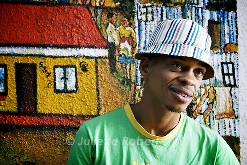 Lebo Malepa, creator of the only backpacker hostel in Meadowlands, Soweto. April 2009