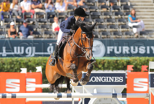 25.09.2015. CSIO, Barcelona, Spain.  Edwina Tops-Alexander (AUS) ridding Clinton during  EL Peridodico Trophy at Real Club de Polo de Barcelona