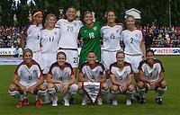 USA starting eleven before the match against Sweden, Landskamp, Sweden, July 5th, 2008.