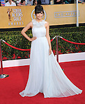 Hannah Simone attends The 20th SAG Awards held at The Shrine Auditorium in Los Angeles, California on January 18,2014                                                                               © 2014 Hollywood Press Agency