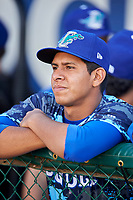 Ricardo Hernandez (29) of the Ogden Raptors before the game against the Grand Junction Rockies at Lindquist Field on June 14, 2019 in Ogden, Utah. The Raptors defeated the Rockies 12-0. (Stephen Smith/Four Seam Images)