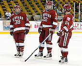 Conor Morrison (Harvard - 38), David Valek (Harvard - 22), Luke Greiner (Harvard - 24) - The Northeastern University Huskies defeated the Harvard University Crimson 4-1 (EN) on Monday, February 8, 2010, at the TD Garden in Boston, Massachusetts, in the 2010 Beanpot consolation game.