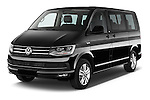 2016 Volkswagen Multivan Comfortline BMT 5 Door Passenger Van Angular Front stock photos of front three quarter view