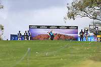 Gareth Paddison (NZL) on the 17th tee during Round 1 of the ISPS HANDA Perth International at the Lake Karrinyup Country Club on Thursday 23rd October 2014.<br /> Picture:  Thos Caffrey / www.golffile.ie
