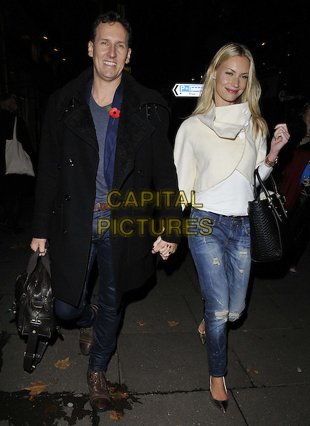 LONDON, ENGLAND - NOVEMBER 03: Brendan Cole &amp; Zoe Hobbs attend the &quot;Dance 'Til Dawn&quot; press night afterparty, Waldorf Hilton Hotel, Aldwych, on Monday November 03, 2014 in London, England, UK. <br /> CAP/CAN<br /> &copy;Can Nguyen/Capital Pictures