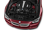 Car Stock 2016 BMW 6 Series 650i 3 Door Coupe Engine  high angle detail view