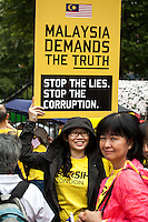"29.08.2015 - ""Bersih 4 UK Solidarity Rally"" - Malaysian Demo outside Downing Street"