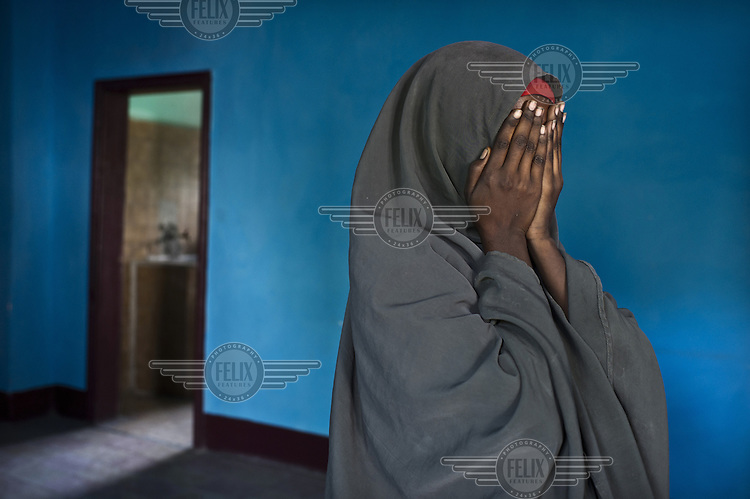A rape survivor in the Elman Peace and Human Rights Centre. According to abused women, aid workers and United Nations officials the Islamist militant group, al-Shabab, are gang-raping and abusing countless women and girls in southern Somalia. They are also forcing families to hand over girls for arranged marriages that often last no more than a few weeks and are essentially sexual slavery. It is not only al-Shabab who are accused, in the past few months, aid workers and victims say there's been a free-for-all of armed men preying upon women and girls displaced by Somalia's famine