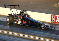 Feb 11, 2016; Pomona, CA, USA; NHRA top alcohol dragster driver Shawn Cowie during qualifying for the Winternationals at Auto Club Raceway at Pomona. Mandatory Credit: Mark J. Rebilas-USA TODAY Sports