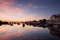 sunrise, Old North Wharf, harbor, Nantucket, MA,