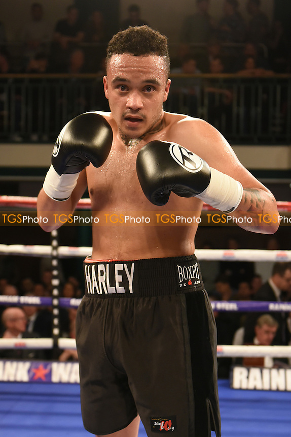 Harley Benn (black shorts) defeats Domink Zubko during a Boxing Show at York Hall on 24th February 2017