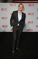 "9 August 2018-  Westwood, California - Alexander Ludwig. Premiere Of STX Films' ""Mile 22"" held at The Regency Village Theatre. Photo Credit: Faye Sadou/AdMedia"