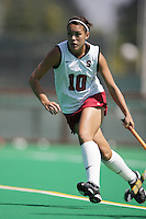 STANFORD, CA - SEPTEMBER 13:  Stephanie Byrne of the Stanford Cardinal during Stanford's 3-2 loss against the Iowa Hawkeyes on September 13, 2008 at the Varsity Field Hockey Turf in Stanford, California.