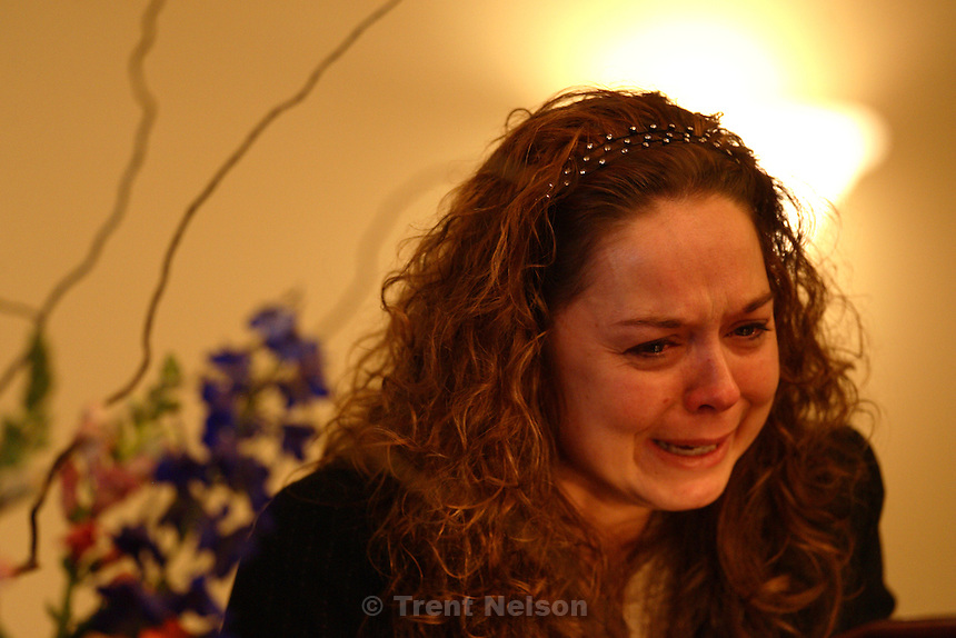 Sandy - Funeral for Vanessa Quinn, a victim of the Trolley Square rampage. Jen Campbell, Vanessa's sister.