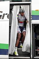 Daniel Teklehaimanot during the stage of La Vuelta 2012 between Ponteareas and Sanxenxo.August 28,2012. (ALTERPHOTOS/Acero) /NortePhoto.com<br /> <br /> **CREDITO*OBLIGATORIO** <br /> *No*Venta*A*Terceros*<br /> *No*Sale*So*third*<br /> *** No*Se*Permite*Hacer*Archivo**<br /> *No*Sale*So*third*