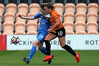 Evie Clarke of London Bees and Niamh Cashin of Sheffield FC Ladies during London Bees vs Sheffield FC Ladies, FA Women's Super League FA WSL2 Football at the Hive Stadium on 12th May 2018