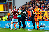 10th September 2017, Turf Moor, Burnley, England; EPL Premier League football, Burnley versus Crystal Palace; Nick Pope of Burnley comes on to replace Tom Heaton of Burnley who was injured