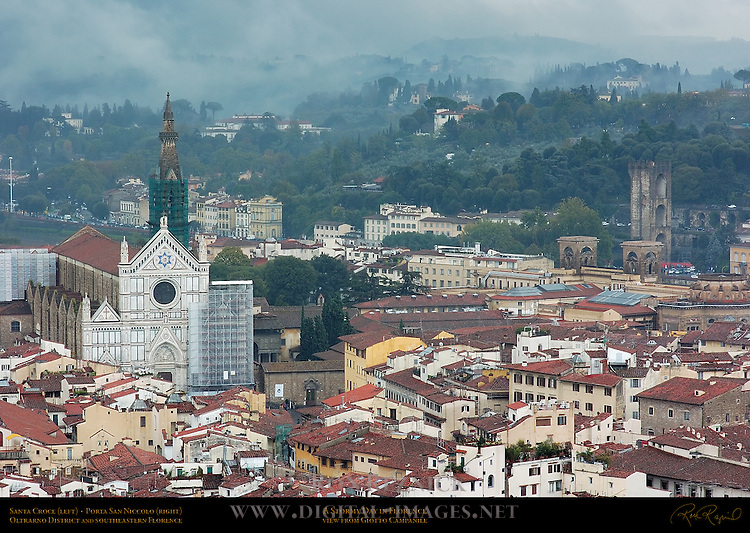 Stormy Day in Florence Santa Croce Porta San Niccolo Oltrarno Southeast Florence