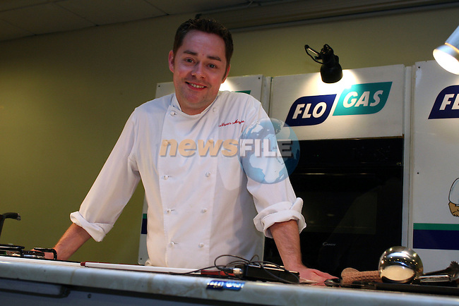 Neven Maguire at the Flogas Summer Barbeque Cookery Demonstration in the Boyne Valley Hotel, Drogheda in aid of..Photo NEWSFILE/Jenny Matthews.(Photo credit should read Jenny Matthews/NEWSFILE)....This Picture has been sent you under the condtions enclosed by:.Newsfile Ltd..The Studio,.Millmount Abbey,.Drogheda,.Co Meath..Ireland..Tel: +353(0)41-9871240.Fax: +353(0)41-9871260.GSM: +353(0)86-2500958.email: pictures@newsfile.ie.www.newsfile.ie.FTP: 193.120.102.198.