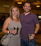 Kate and Chris during the Young Alumni Beer Fest in the Reno Ballroom in downtown Reno on Friday, May 3, 2019.