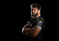 Guy Mercer poses for a portrait in the 2015/16 European kit during a Bath Rugby photocall on September 8, 2015 at Farleigh House in Bath, England. Photo by: Patrick Khachfe / Onside Images