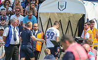 Preston North End's Billy Bodin leaves the field after being shown a second yellow<br /> <br /> Photographer Alex Dodd/CameraSport<br /> <br /> The EFL Sky Bet Championship - Preston North End v Burton Albion - Sunday 6th May 2018 - Deepdale Stadium - Preston<br /> <br /> World Copyright &copy; 2018 CameraSport. All rights reserved. 43 Linden Ave. Countesthorpe. Leicester. England. LE8 5PG - Tel: +44 (0) 116 277 4147 - admin@camerasport.com - www.camerasport.com