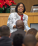 Shondra Huery comments during the Principal meeting, December 3, 2014.