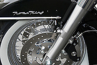Harley Davidson Motorcycle Road KingFender and front white wall tire and wheel