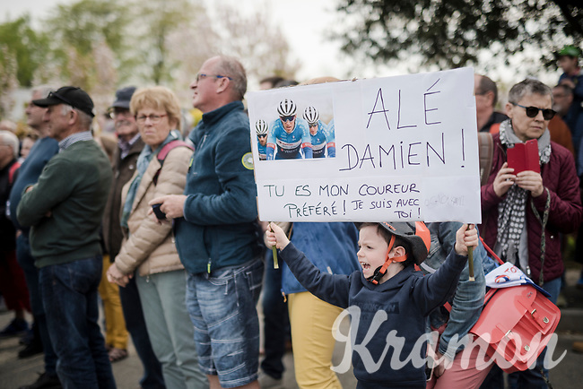 Damien Godin's (FRA/Total Direct Energie) superfan is making himself heard ahead of the race<br /> <br /> 36th TRO BRO LEON 2019 (FRA)<br /> One day race from Plouguerneau to Lannilis (205km)<br /> <br /> ©kramon