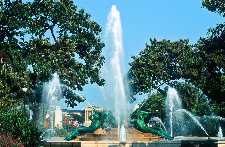 Logan Circle fountain, Philadelphia, Pennsylvania
