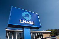 A Chase bank branch is pictured in New York City, NY Sunday July 31, 2011. JPMorgan Chase Bank, N.A., doing business as Chase, is a national bank that constitutes the consumer and commercial banking subsidiary of financial services firm JPMorgan Chase.
