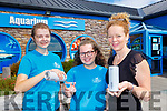 Shauna Moore, Clodagh Moriarty and Suzanne Hall with the new cans of water that have replaced bottled water at Dingle Aquarium