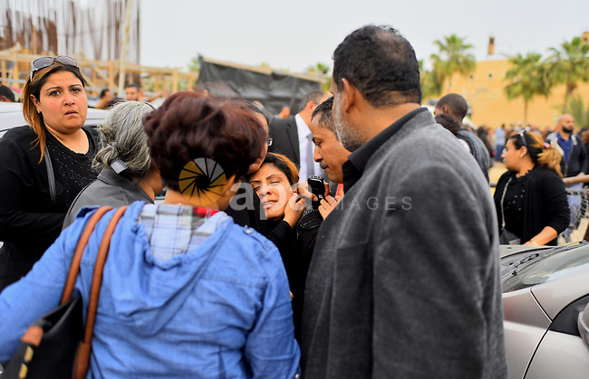 Egyptian Christians mourn for the victims of the blast at the Coptic Christian Saint Mark's church in Alexandria the previous day during a funeral procession at the Monastery of Marmina in the city of Borg El-Arab, east of Alexandria on April 10, 2017. Egypt prepared to impose a state of emergency after jihadist bombings killed dozens at two churches in the deadliest attacks in recent memory on the country's Coptic Christian minority. Photo by Amr Sayed