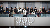 9th February 2018, Pyeongchang, South Korea; 2018 Winter Olympic Games; Opening Ceremony at PyeongChang Olympic Stadium; South Korean President Moon Jae-in declaring open the 2018 PyeongChang Winter Olympic Games with North Korea's Kim Yo-jong  in the group picture