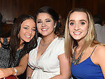 Stacey Boylan, Megan Bidulph and Roisín Kavanagh pictured at the Newtown Blues awards night in the Westcourt Hotel.  Photo:Colin Bell/pressphotos.ie