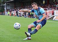 Stephen McGinn of Wycombe Wanderers crosses the ball during the Friendly match between Aldershot Town and Wycombe Wanderers at the EBB Stadium, Aldershot, England on 26 July 2016. Photo by Alan  Stanford.
